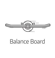 Self balance board vector