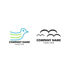 set of bird logo template vector image