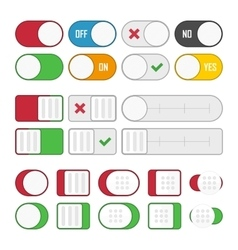Set of universal buttons vector image