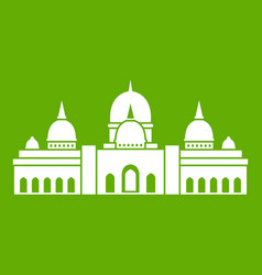 sheikh zayed grand mosque uae icon green vector image