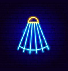 shuttlecock neon sign vector image