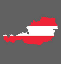 silhouette country borders map of austria on vector image