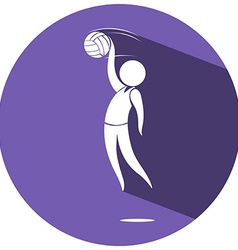 Sport logo design for volleyball vector