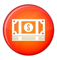 Stack of money icon flat style vector