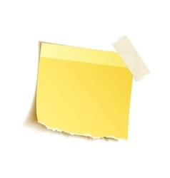 Sticky notes on white vector