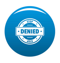 Stop logo simple style vector