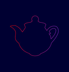 tea maker sign line icon with gradient vector image