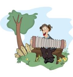 The country musician cartoon vector