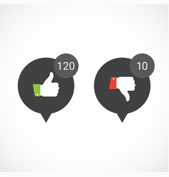 thumbs up and down icons vector image
