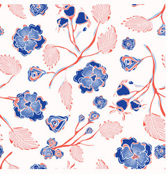 trendy indian lace floral seamless pattern vector image