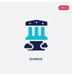 Two color olympus icon from greece concept vector