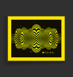 wavy background pattern optical vector image