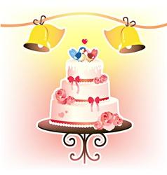 Wedding cakevec vector
