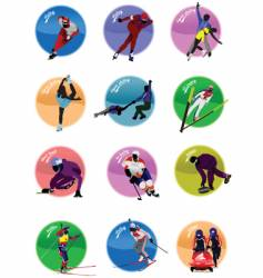 winter olympic sport icons vector image