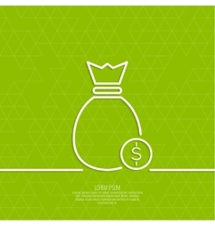 Bag with coins vector image vector image