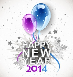 New year balloons 2014 vector