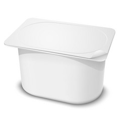 Plastic Container vector image vector image