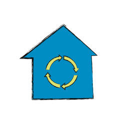 recycle house symbol vector image