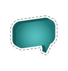 speech bubble message cut line vector image vector image