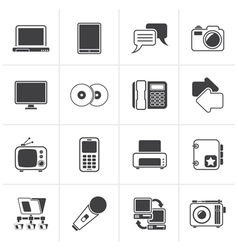 Black Communication and connection technology vector image vector image
