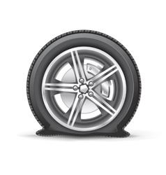 flat tire vector image