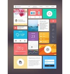 Flat ui kit for responsive web design vector image