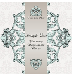 Invitation card with damask ornaments vector
