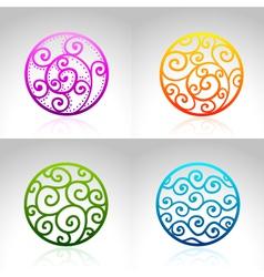 Ornamental Circles vector image vector image