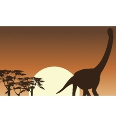 argentinosaurus beautiful scenery of silhouettes vector image vector image