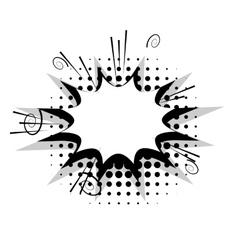 Blank template comic speech star bubble boom vector image vector image