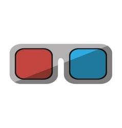 glasses 3d movie cinema design shadow vector image