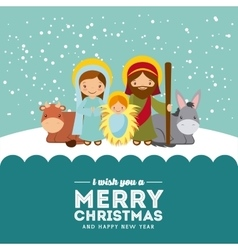 Holy family design vector image