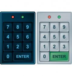 keypad entry vector image