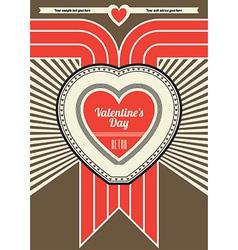 retro valentine design vector image