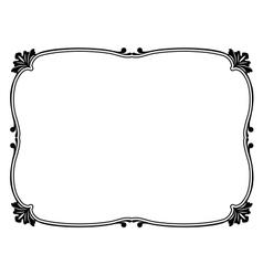 simple ornamental frame vector image vector image