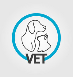 vet logo design vector image vector image
