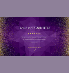 backdrop from triangles with golden shiny vector image vector image