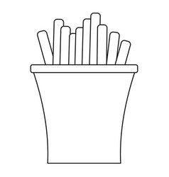 french fry icon outline style vector image