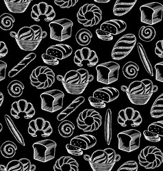 Seamless pattern background bakery package vector image vector image