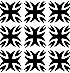 Seamless pattern Monochromatic Black ornament vector image