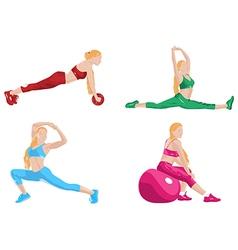 Women fitness exercising vector image vector image