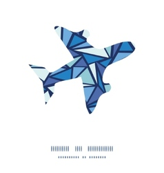 Abstract ice chrystals airplane silhouette pattern vector