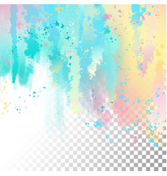 Abstract watercolor border vector