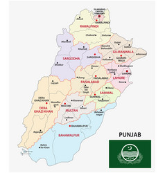 administrative map pakistani province of vector image
