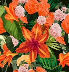 amaryllis seamless pattern vector image vector image