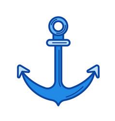 anchor line icon vector image