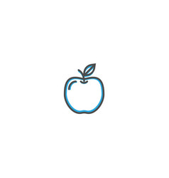 apple icon design gastronomy icon vector image