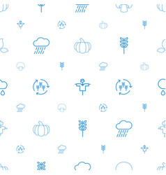 Autumn icons pattern seamless white background vector