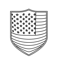 badge with flag united states of america vector image