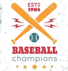 baseball vintage poster white vector image